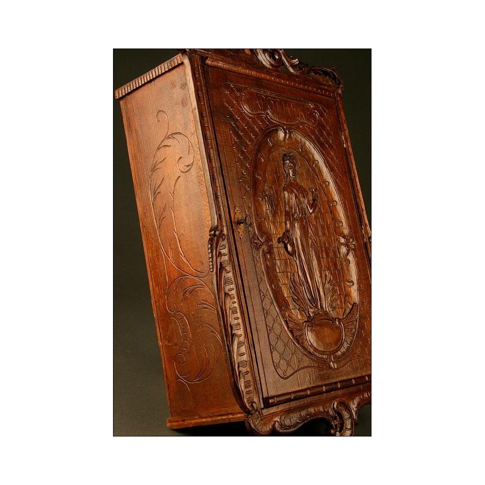 Antiguo botiqu n del siglo xix en madera maciza tallada a mano - Botiquin antiguo ...