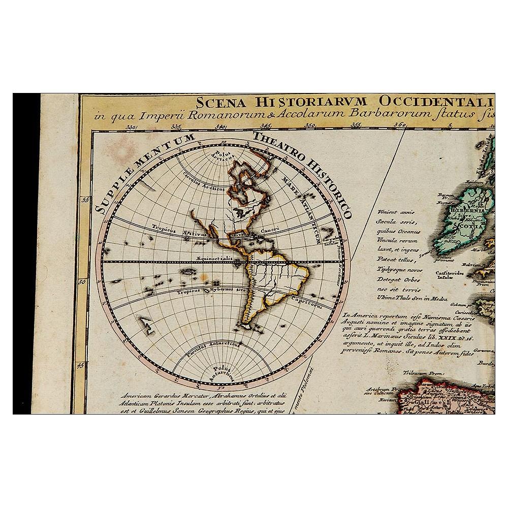 Antiguo Mapa de 1720 de C. Weigel que Muestra la Situación Histórica ...