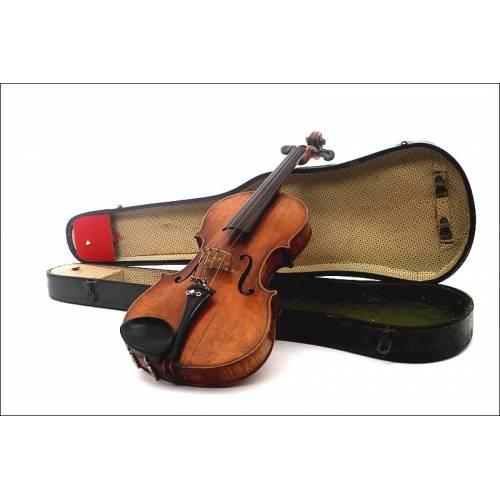 Antiguo Violín del Siglo XIX. En Buen Estado, en su Estuche Original y con Accesorios