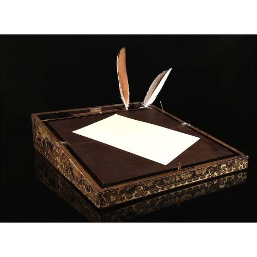 Escribanía Antigua China. Finales del Siglo XIX, en Muy Buen Estado de Conservación