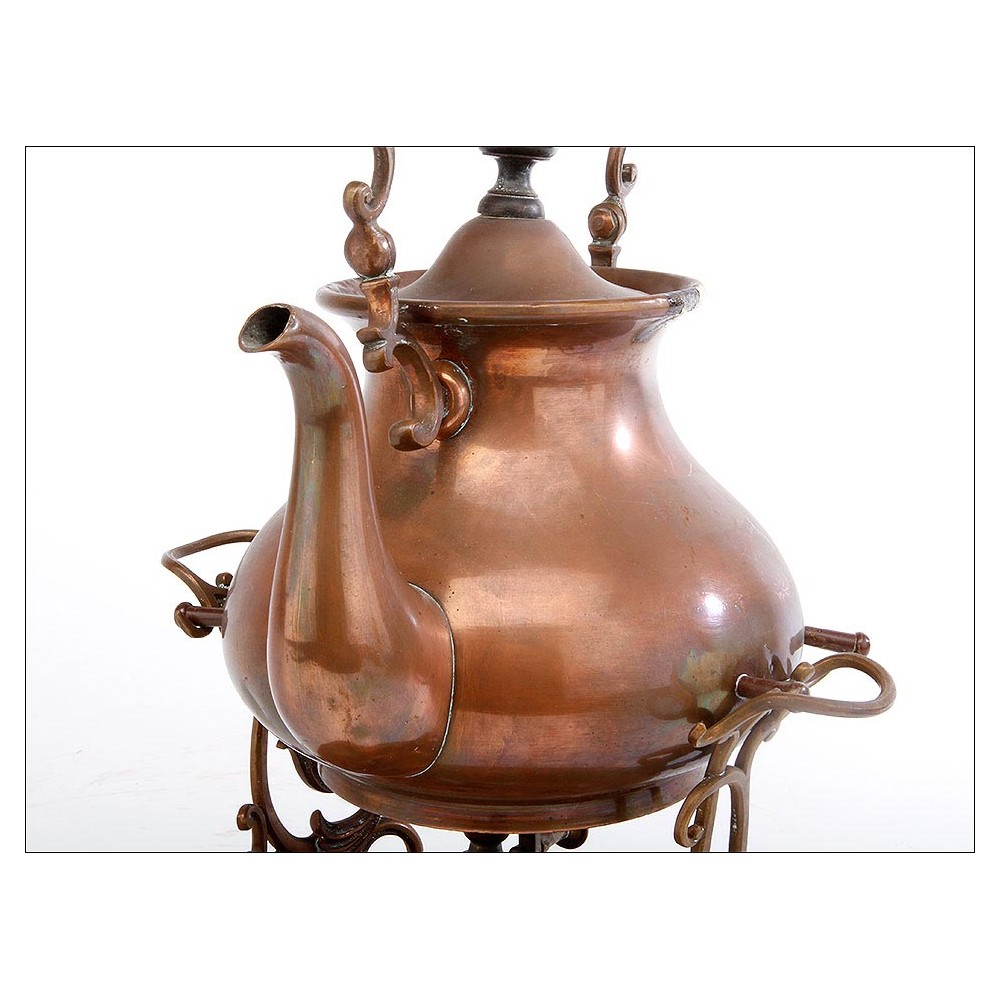 Preciosa tetera de cobre con decoraci n art nouveau for Decoracion art nouveau