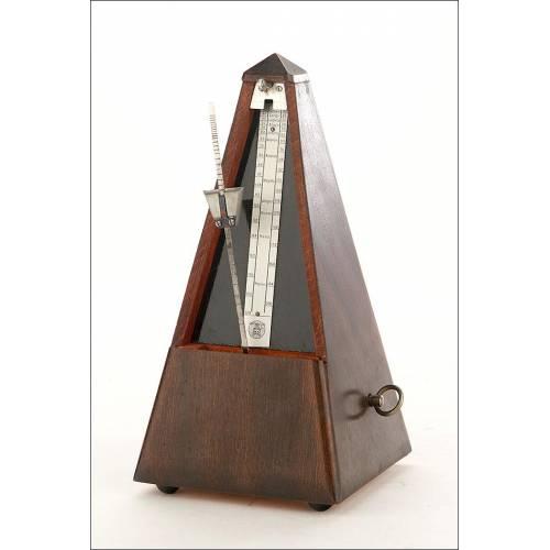 Bello Metrónomo Antiguo Muy Bien Conservado y Funcionando. Francia, Ppios. Siglo XX