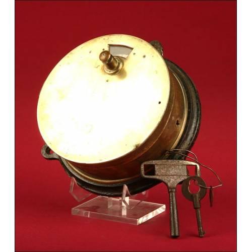 Original Reloj de Vigilante, o también denominado De Ruta, Primer ¼ del siglo XX.