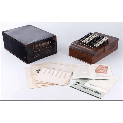 Antiguo Comptómetro o Sumadora, Funcionando Bien. EEUU, Años 30