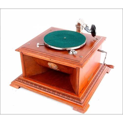 Antiguo Gramófono de Sobremesa Pathéphone Nº 30. Funcionando Bien. Francia, Años 20
