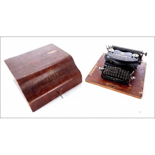 Bellísima Máquina de Escribir Antigua Adler 7 en Excelente Estado. Alemania, 1910-20