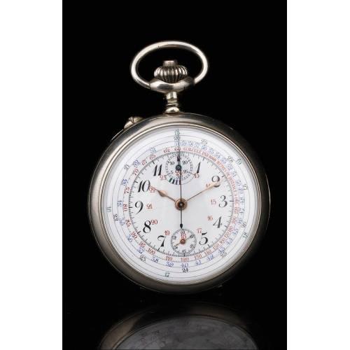 Antiguo Reloj Cronómetro de Bolsillo para Oficial de
