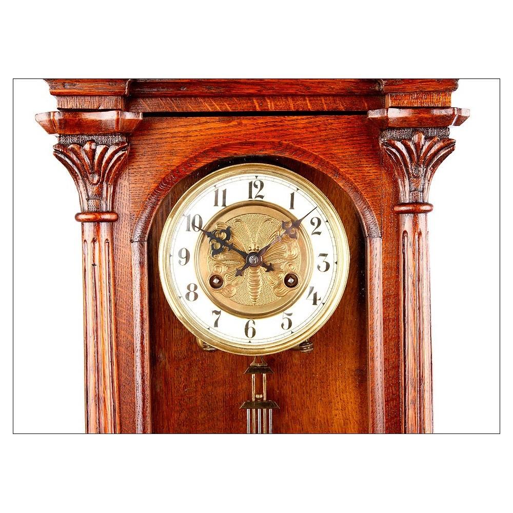 Antiguo reloj de pared junghans en perfectas condiciones alemania 1900 - Relojes pared antiguos ...