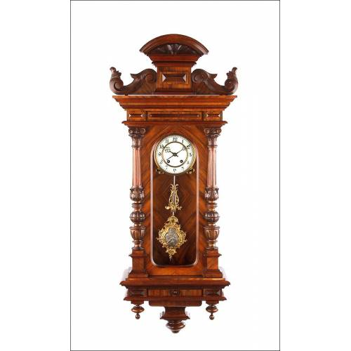 Maravilloso Reloj de Pared Lenzkirch Totalmente Restaurado. Alemania, 1873