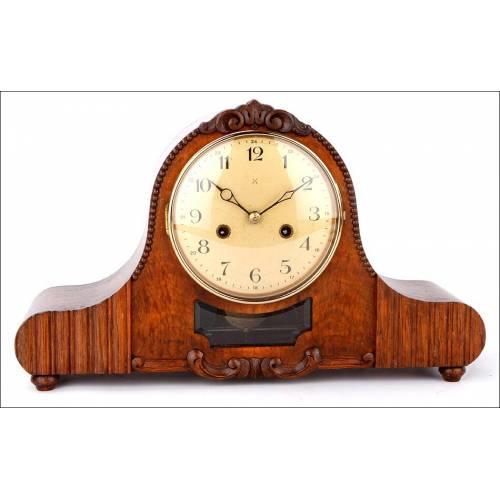 Precioso Reloj de Sobremesa Junghans en Perfecto Funcionamiento. Alemania, Años 30