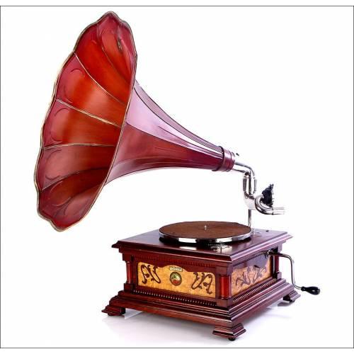 Impresionante Gramófono Antiguo La Voz de Su Amo Modelo 5. En Perfecto Funcionamiento. España, 1910