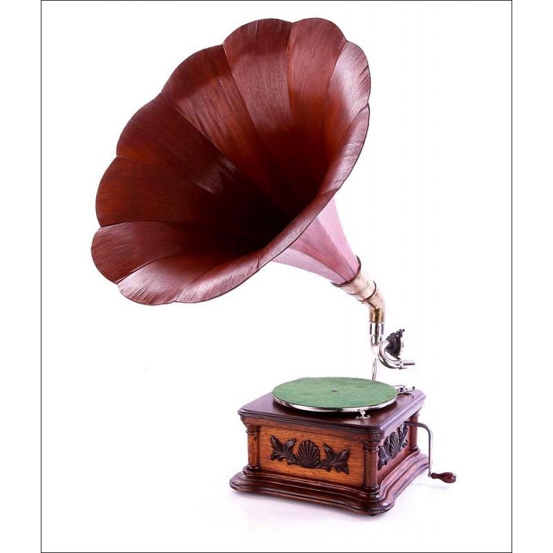 Gramófono Antiguo La Voz de su Amo Modelo Monarch. Modelo de Lujo. Gran Bretaña, Circa 1915