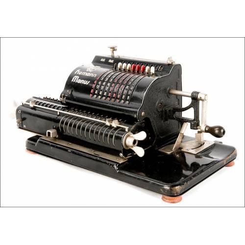 Antigua Calculadora Hamann Manus B. Funcionando. Alemania, 1.927