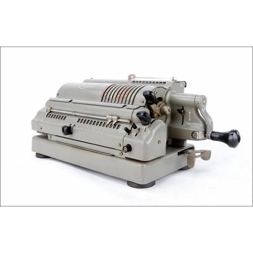 Magnífica Calculadora Antigua Triumphator CRN1 en Funcionamiento. Alemania, Circa 1955