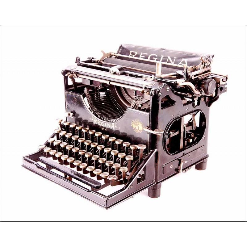 Antigua Máquina de Escribir Regina IV en Perfecto Funcionamiento. Alemania, 1908