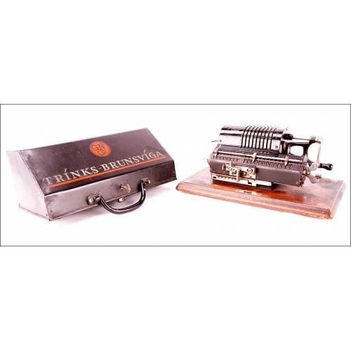 Impresionante Calculadora Antigua Trinks-Brunsviga M. Alemania, Circa 1920