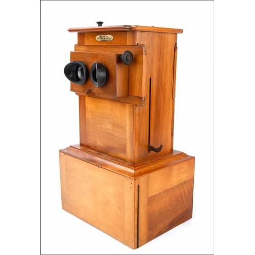 Antiguo Estereoscopio Educa en Estado de Funcionamiento. Francia, Circa 1930