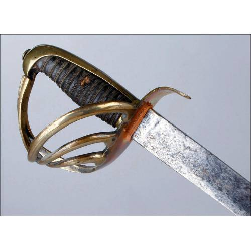 Antigua Espada Perteneciente a un Miembro de la Guardia Personal de Fernando VII. España, 1816