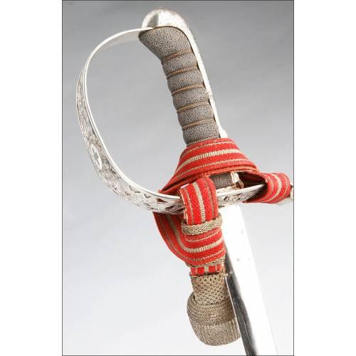 Suiza. Magnífica Espada de Oficial de Infantería. Modelo 1899. Circa 1940