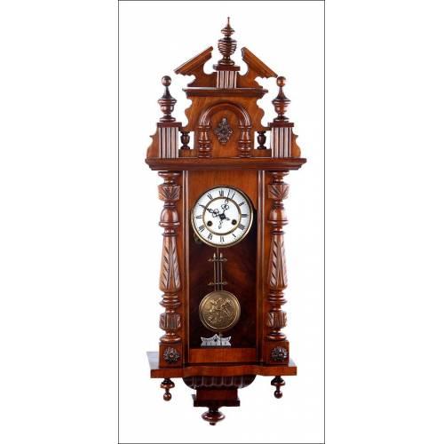 Antiguo Reloj de Pared Mauthe en Estado de Funcionamiento. Alemania, 1920