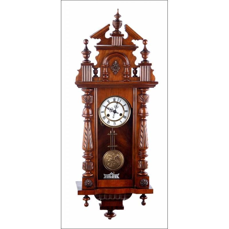 Antiguo reloj de pared mauthe alemania 1925 - Relojes pared antiguos ...