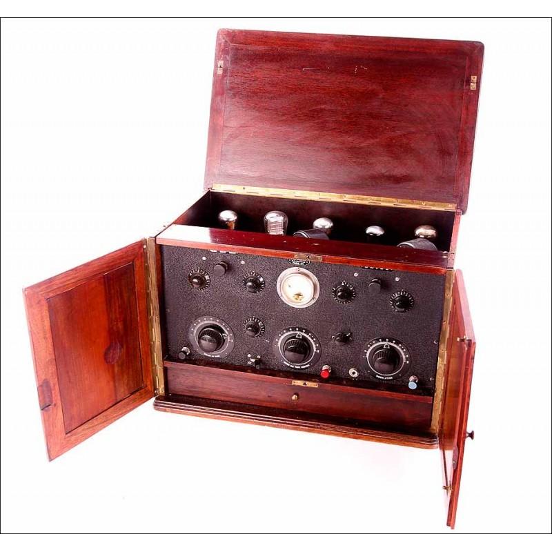 Rara Radio Antigua Ducretet con Todos sus Mandos y Piezas Originales. Raro modelo. Completa. Francia, 1926