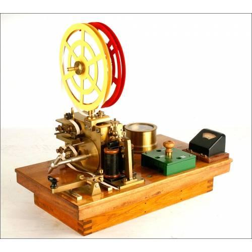Antiguo Telégrafo o Estación Morse Fabricada Por Lorenz. Preciosa. 1890