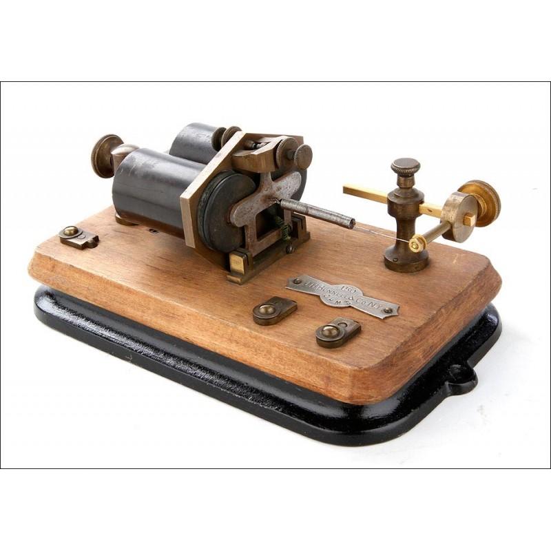 Relé Telegráfico Antiguo Fabricado por J.H. Bunnell & Co. Nueva York, Circa 1890