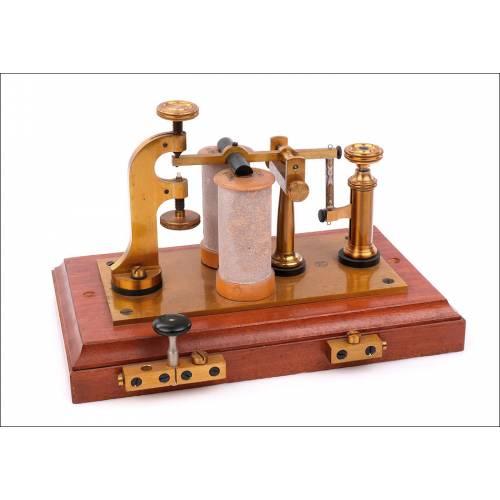 Relé Telegráfico Antiguo Kapsch & Söhne. Completo. Viena, Circa 1880