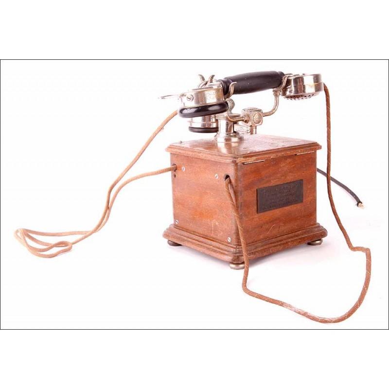 Bello Teléfono Antiguo Modelo 1910 en Excelente Estado de Conservación. Francia, 1935
