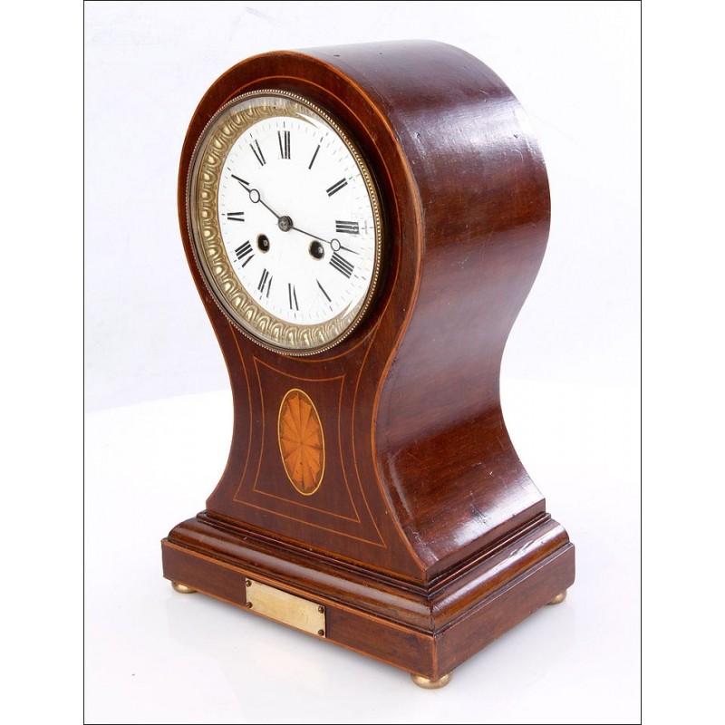 Magnífico Reloj de Sobremesa Antiguo con Sonería de Horas y Medias. Francia, Siglo XIX
