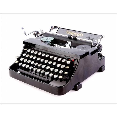 Antigua Máquina de Escribir Torpedo en Excelente Estado. Alemania, Años 30