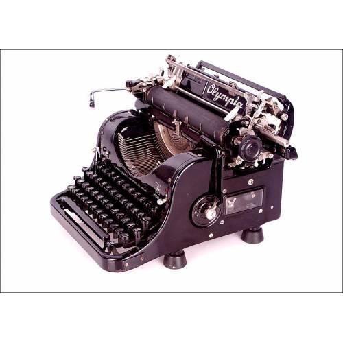 Máquina de Escribir Antigua Olympia. Funcionando Perfectamente. Alemania, Años 30