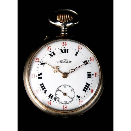 Hermoso Reloj de Bolsillo Antiguo Natika Funcionando Perfectamente. Circa 1900