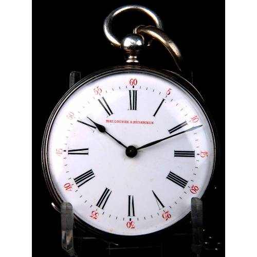 Precioso Reloj de Bolsillo Antiguo Malgouyre A Bédarieux. Francia, Circa 1870