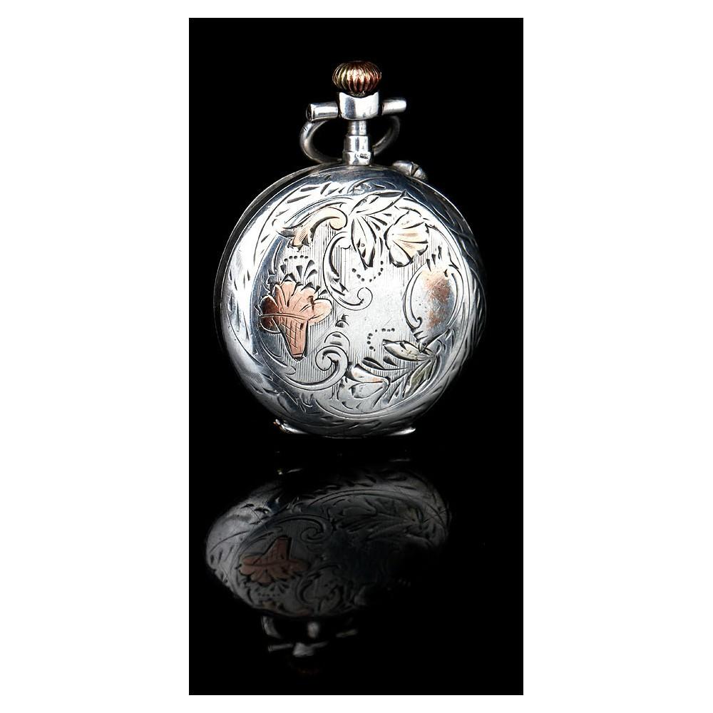 67130b9d9f1d Antiguo Reloj de Bolsillo Francés de Señora Francés