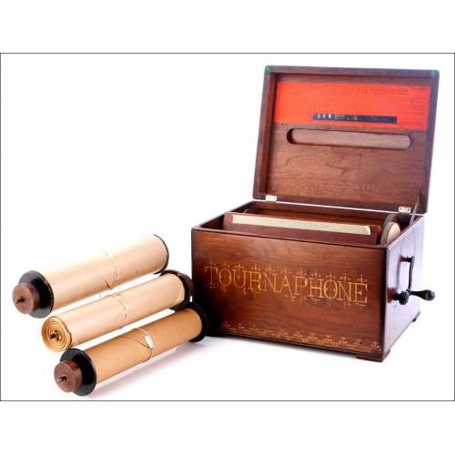 Bellísimo Organillo Antiguo Tournaphone en Fantástico Estado y Funcionando. EEUU, 1880