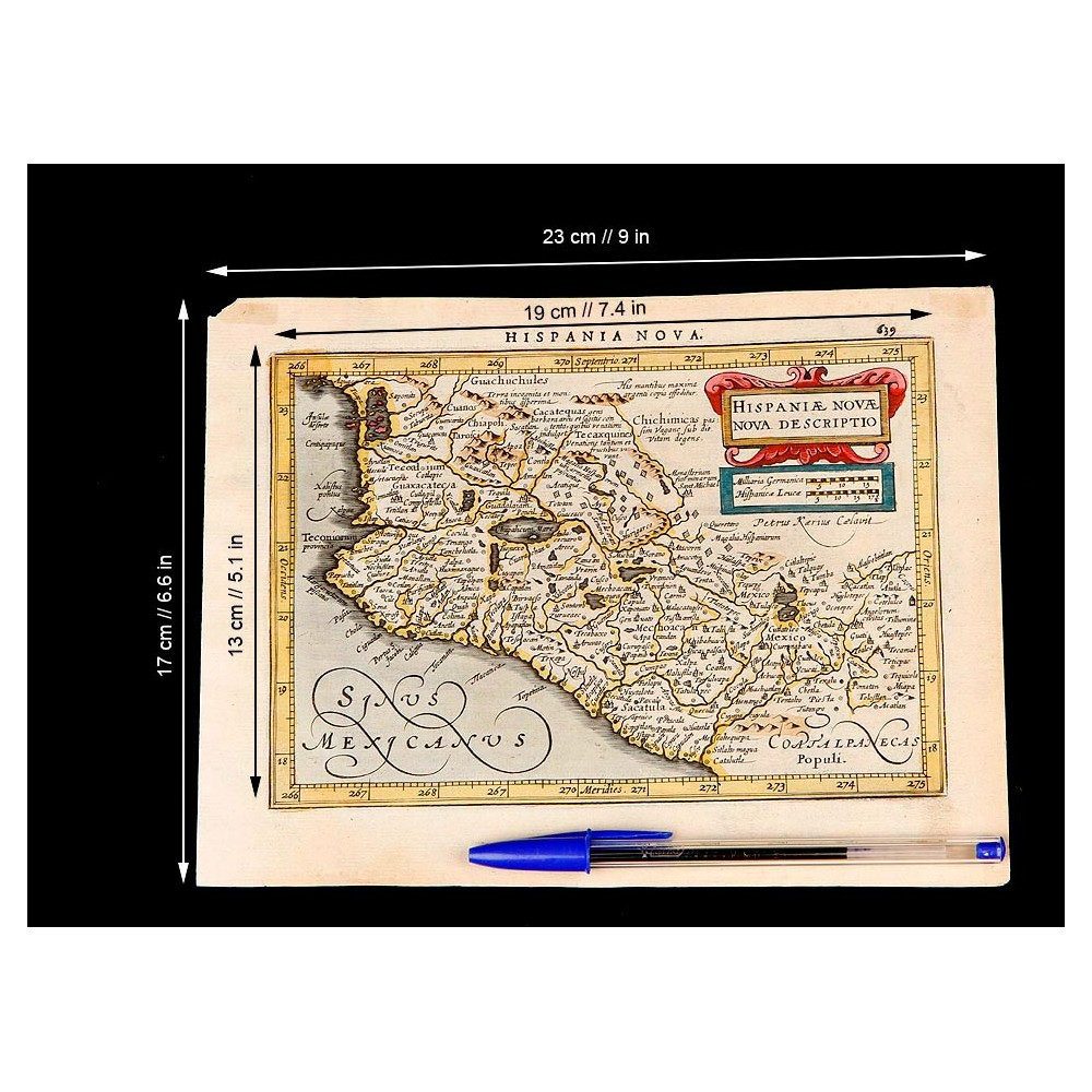 Antiguo Mapa de México, 1628