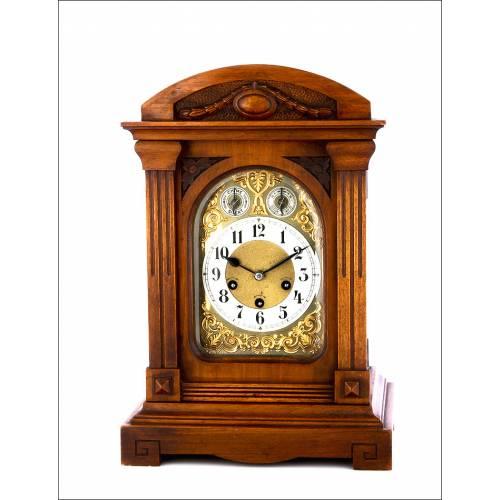 Antiguo Reloj Junghans de Sobremesa Tipo Bracket. Alemania, 1911
