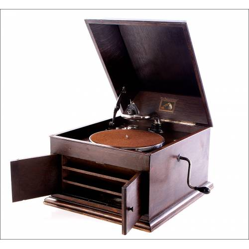Gramófono La Voz de su Amo, modelo 103. Inglaterra, 1925.