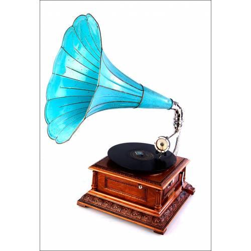 Gramófono Antiguo Pathephone Nº 8, Francia, 1915
