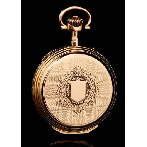 Reloj Ginebrino Antiguo Grosclaude. Oro Macizo de 18 K. Suiza, 1900