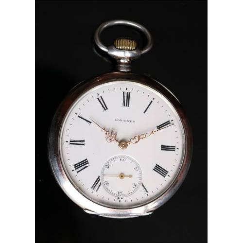 Reloj de Bolsillo Lepine Antiguo, Marca Longines, 1900