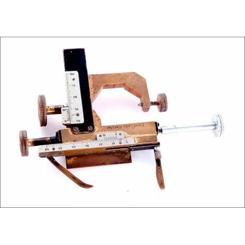 Antiguo Ajuste Micrométrico Leitz, 1910