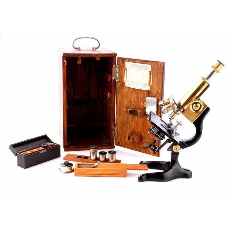 Microscopio E. Leitz Antiguo. Alemania, 1920