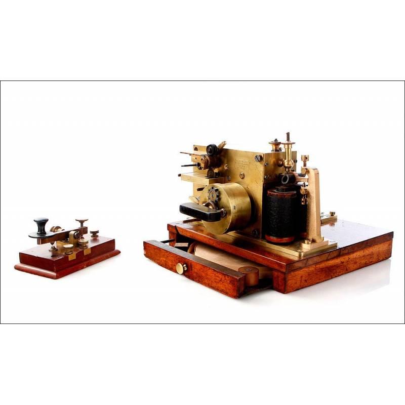 Estación Telegráfica Morse Antigua, Alemania, Ca. 1900