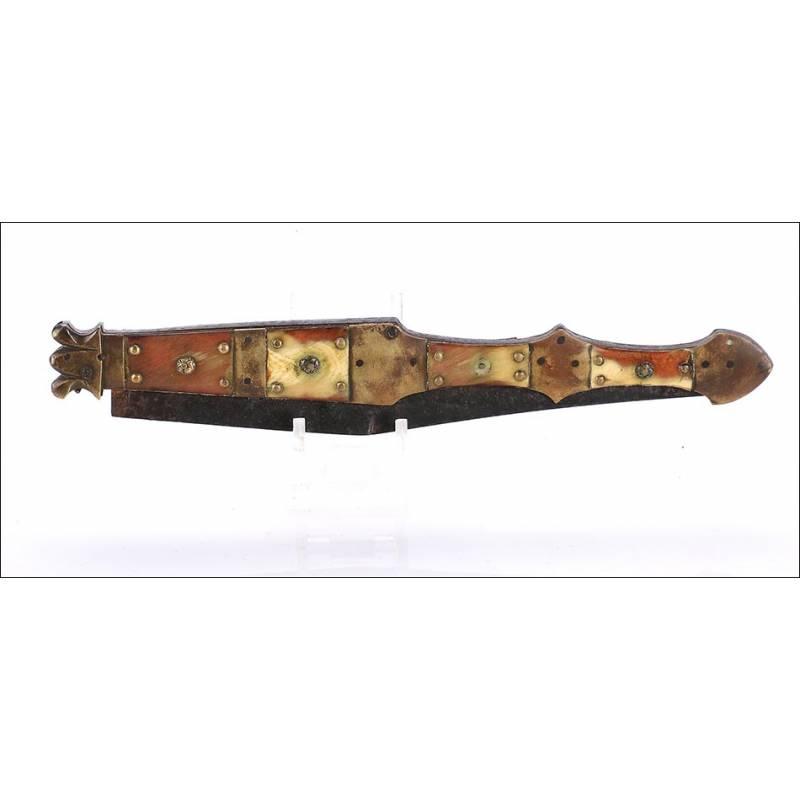 Navaja Antigua Valero Jun, Zaragoza. Fabricada en 1850