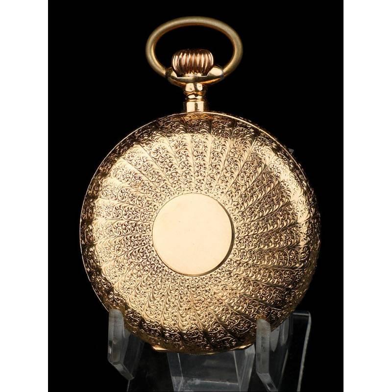 Reloj de Bolsillo en Oro 18K, Antiguo, de Ppios. S. XX