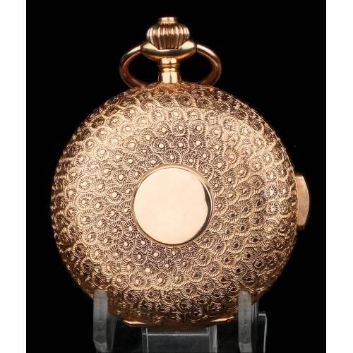 Reloj Bolsillo Antiguo Sonería a Minutos Le Phare 18K, Ppios. S. XX
