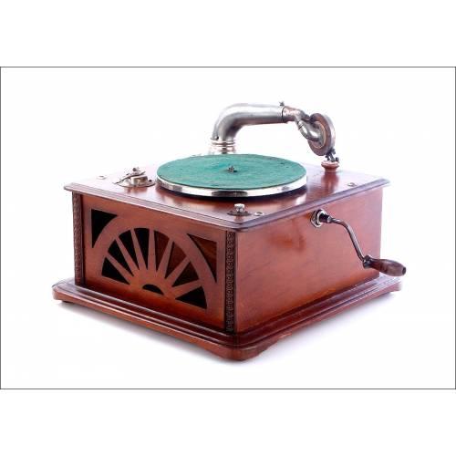 Gramófono Antiguo Francés Perfectaphone, Circa 1920